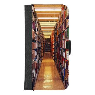 図書館の本棚のiPhone 8/7のプラスのウォレットケース iPhone 8/7 Plus ウォレットケース