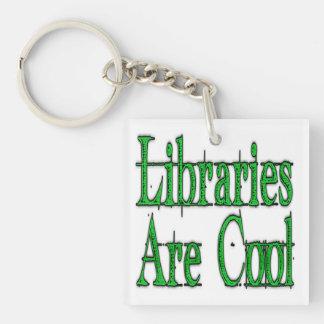図書館はクールな緑です キーホルダー