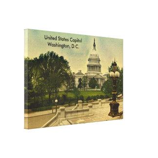 図書館日付1898年からの米国の国会議事堂は歩みます キャンバスプリント