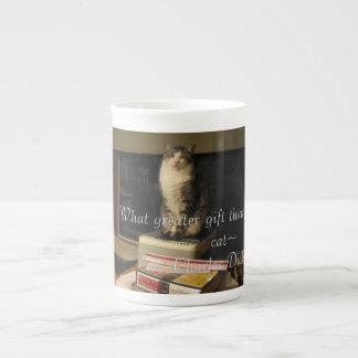 図書館猫 ボーンチャイナカップ