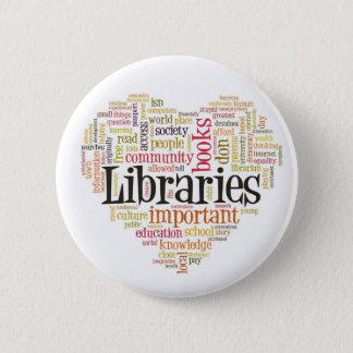 図書館1を救って下さい 5.7CM 丸型バッジ