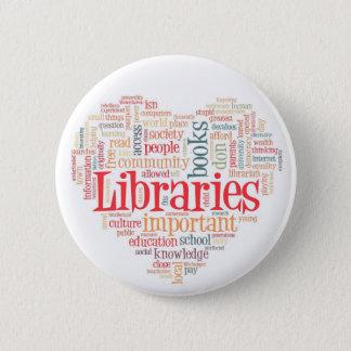 図書館2を救って下さい 5.7CM 丸型バッジ