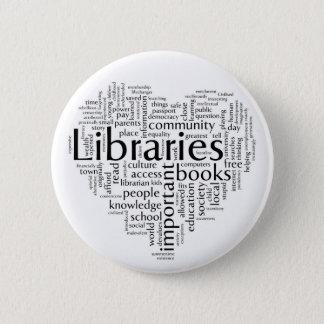 図書館4を救って下さい 5.7CM 丸型バッジ