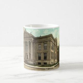 図書館、ビンガムトンNYのヴィンテージ1909年 コーヒーマグカップ