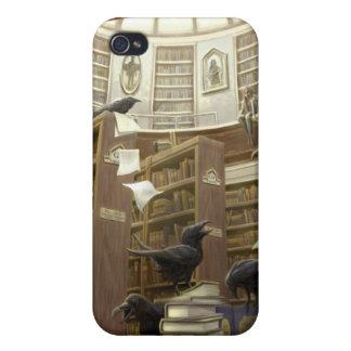 図書館- Iphoneの場合のワタリガラス iPhone 4/4S カバー