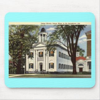 図書館、Lenoxのマサチューセッツ1932年のヴィンテージ マウスパッド