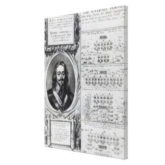 図表を持つ王のチャールズIポートレート キャンバスプリント