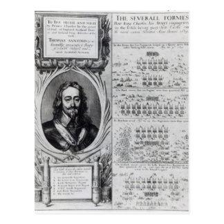 図表を持つ王のチャールズIポートレート ポストカード