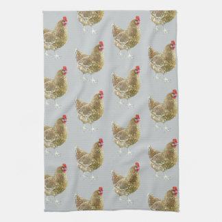 図解入りの、写真付きのでパターン(の模様が)あるな鶏の台所ふきん キッチンタオル