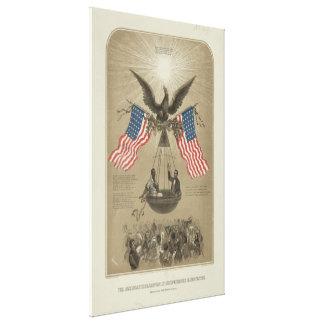 図解入りの、写真付きのなアメリカの独立宣言 キャンバスプリント