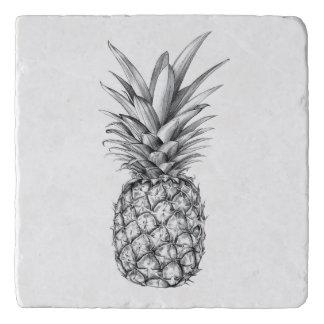 図解入りの、写真付きのなパイナップルデザイン トリベット