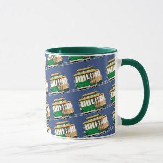 図解入りの、写真付きのな小型ケーブル・カーパターン マグカップ