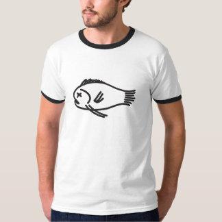 図解入りの、写真付きのな死んだ魚のティー Tシャツ