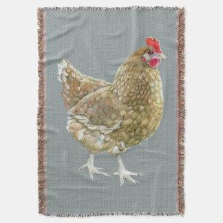 図解入りの、写真付きのな水玉模様の鶏のブランケット スローブランケット