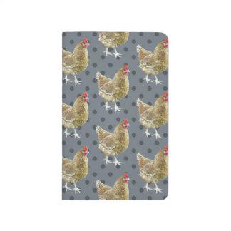 図解入りの、写真付きのな水玉模様の鶏のポケットジャーナル ポケットジャーナル