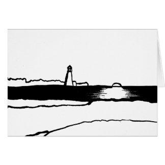 図解入りの、写真付きのな灯台景色 カード