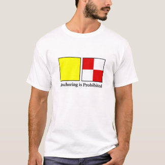 固定は禁止されます Tシャツ