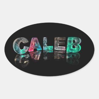 固有の名前- 3DライトのCaleb 楕円形シール