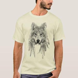 固有の服装のTシャツのオオカミ Tシャツ