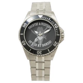 国および西部のスカル 腕時計