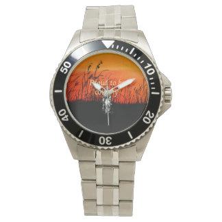国があること誇りを持ったなティー 腕時計