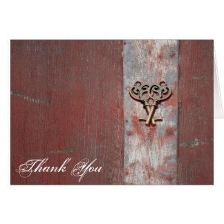 国によって絵を描かれる木製の合い鍵は感謝していしています カード