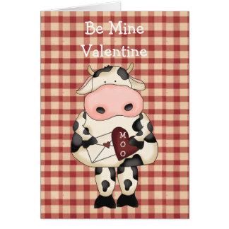 国のおもしろいMoo牛バレンタインデーカード カード