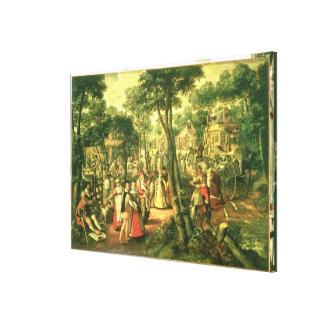 国のお祝い1563年 キャンバスプリント