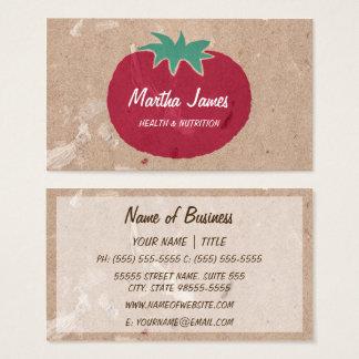 国のオーガニックな技術の紙のトマトの栄養物 名刺