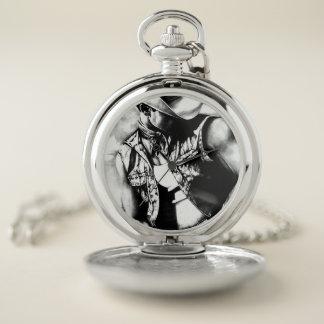 国のカウボーイのダイヤルが付いている銀製の壊中時計 ポケットウォッチ