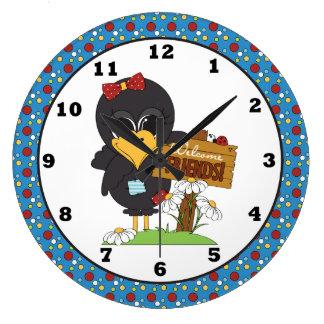 国のカラスの歓迎の友人の柱時計 ラージ壁時計