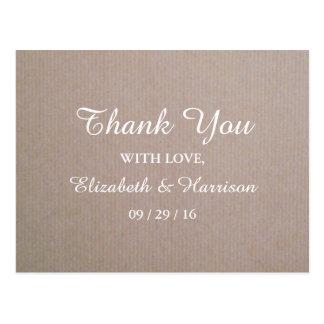 国のクラフトの素朴な結婚式は感謝していしています ポストカード