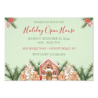 国のクリスマスのお菓子の家 カード