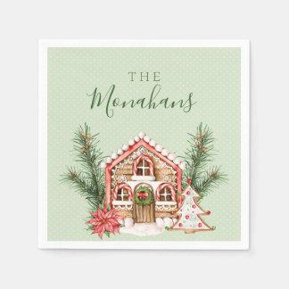 国のクリスマスのお菓子の家 スタンダードカクテルナプキン