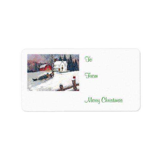 国のクリスマス 宛名ラベル