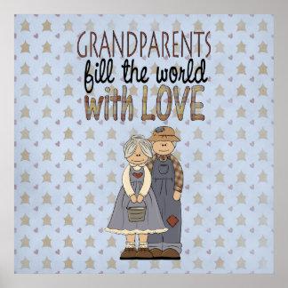 国のコレクションの祖父母愛芸術のプリントPos ポスター