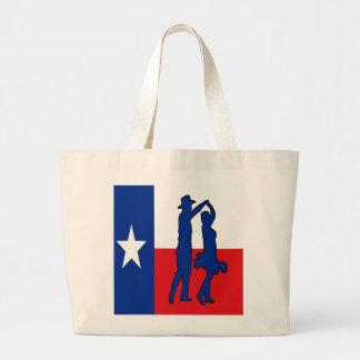 国のダンサーのトートバックが付いているテキサス州の旗 ラージトートバッグ