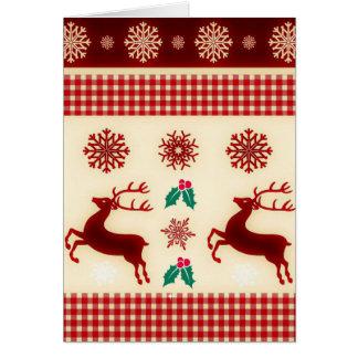 国のトナカイのクリスマスカード カード