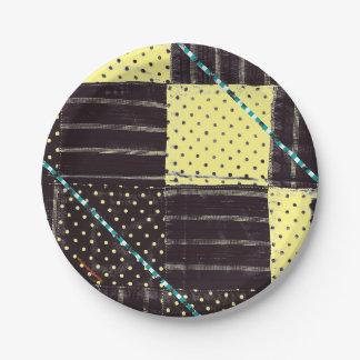 国のパッチワークの紙皿 ペーパープレート