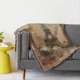 国のパリ旧式でフランスのなエッフェル塔 スローブランケット