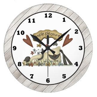 国のヒツジの漫画の柱時計 ラージ壁時計