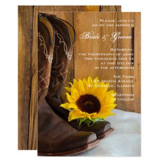 国のヒマワリの西部の結婚式招待状 12.7 X 17.8 インビテーションカード
