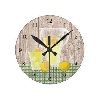 国のレモネードの柱時計 ラウンド壁時計