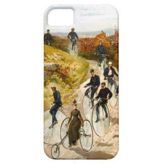 国のヴィンテージの自転車の乗車 iPhone SE/5/5s ケース