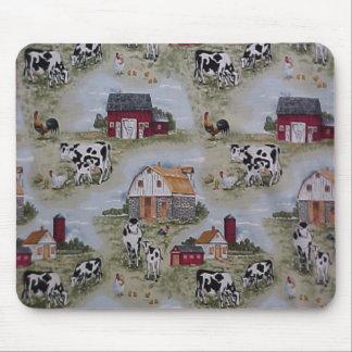 国のヴィンテージの酪農場はオンドリのマウスパッドを脅かします マウスパッド