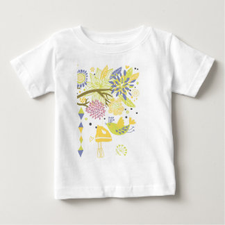 国の台所-花の手のミキサー ベビーTシャツ
