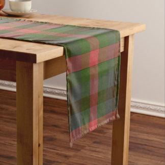 国の夏の格子縞のテーブルのランナー ショートテーブルランナー