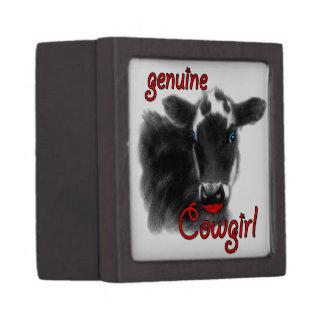 国の女の子のおもしろいな動物の西部のテーマ ギフトボックス
