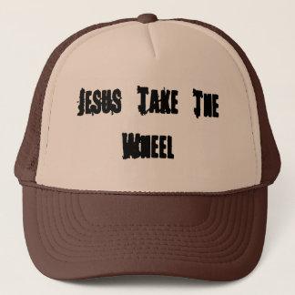 """国の女の子は""""イエス・キリスト車輪""""のトラック運転手の帽子取ります キャップ"""