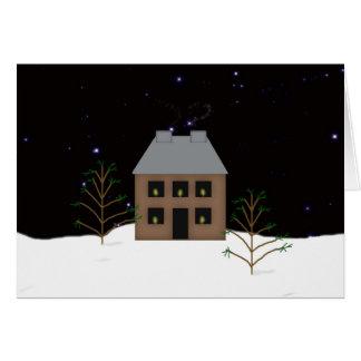 国の家の大きいフォントのクリスマスカード カード